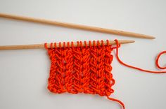How to knit the spine stitch | We Are Knitters Blog