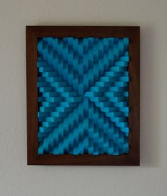 Wood Wall Art Blue Cubes Angular Arrows by moderngeometrics