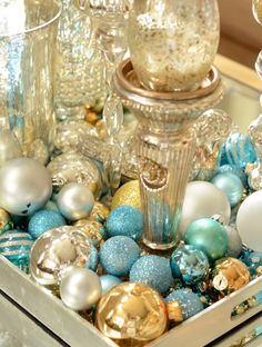 HOME DZINE Craft Ideas | Repurpose old ornaments for holiday decor