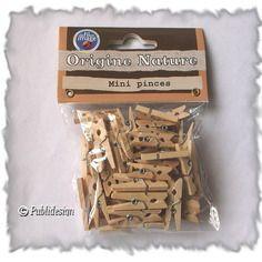 50 mini pinces en bois