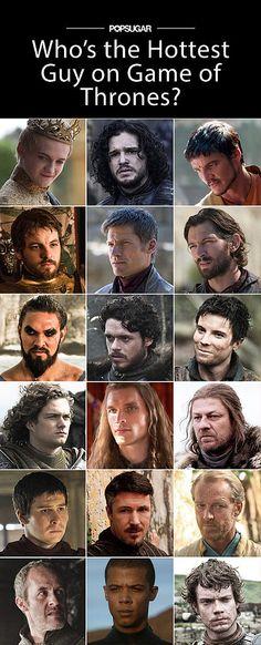 Ranking the 22 Hottest Guys on Game of Thrones..i love khal drogo, gendry, jaqen h'ghar, jon snow