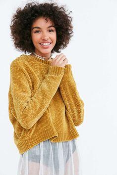 Silence + Noise Velvet Chenille Pullover Sweater