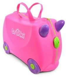 Buy Trunki Trixie 4 Wheel Hard Ride On Suitcase - Pink at Argos. Thousands of products for same day delivery or fast store collection. Kids Luggage, Hand Luggage, Cabin Bag, Kids Ride On, Pink Kids, Kids Hands, Mom And Baby, Sleepover, Toys