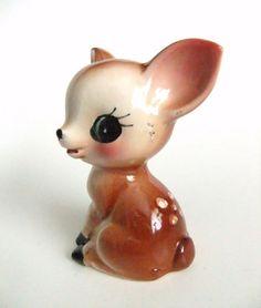Vintage Fawn Deer Figure Ceramic China Deer by VintageByJade