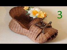 Видеоурок: мастерим корзинку-башмак из газетных трубочек. Часть 3 - Ярмарка Мастеров - ручная работа, handmade