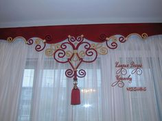 Dyi Curtains, Curtains And Draperies, Kitchen Curtains, Drapery, Kitchen Curtain Designs, Burlap Ornaments, Rideaux Design, Pelmets, Curtain Ties