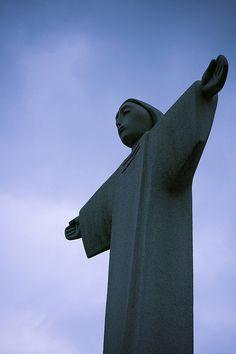 Jesus in Korea Outside of Myeongdong Cathedral, Seoul, Korea