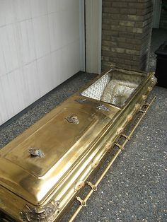 Antique Victorian Bronze Coffin | eBay