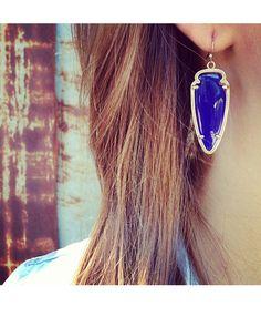 Sky Earrings in Cobalt - Kendra Scott Jewelry.