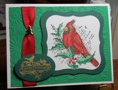 Christmas Cardinal by francliff - Cards and Paper Crafts at Splitcoaststampers