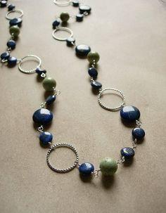 Black Beads/Silver Circles