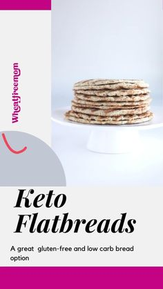 This gluten-free and keto flatbread recipe is simple to make and requires no yeast, rising time or chill time. It is a great low carb bread option. Keto Flatbread Recipe, Gluten Free Flatbread, Gluten Free Recipes, Low Carb Recipes, Keto Tortillas, Food Words, Low Carb Bread, Chocolate Treats, Chill