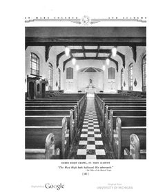 St. Mary Academy Monroe, MI: image of page 48. The place we attended daily mass (not required but chosen).