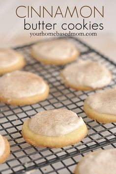 Cinnamon Butter cookies are melt in your mouth delicious. Made with cornstarch they literally melt in your mouth. Topped with a sweet cinnamon frosting makes them pretty much perfect.