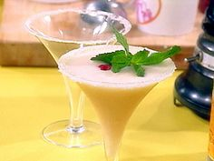 Frozen Peach Champagne Cocktails recipe from Rachael Ray via Food Network