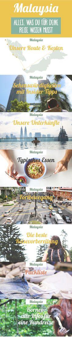 Malaysia - alles, was du für deine Rundreise wissen musst. Must Sees, Insider Tipps, Unterkünfte, Route, Kosten und vieles mehr - alles auf einer Karte markiert!