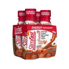 SlimFast Advanced Energy High Protein Ready to Drink Meal Replacement Shake, Caramel Latte, 11 fl. oz., Pack of 4 Protein Meal Replacement, Meal Replacement Shakes, Nutrition Plans, Slim Fast, High Protein Recipes, Protein Foods, Protein Supplements, Whey Protein