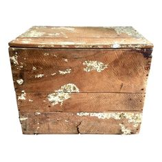 Collection Here Vintage Antiqued Wooden Box Crate French Wine Chest