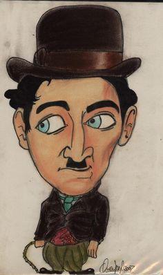 charlie chaplin caricatures | Caricature of Charlie ChaplinCharlot, 1889-1977. Genius.