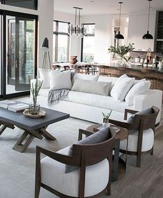 home design Awesome 41 Amazing Open Plan Living Room Design Ideas. Farm House Living Room, Minimalist Living Room, Open Plan Living Room, Rustic Living Room, Open Living Room, Neutral Living Room Design, Interior Design, Open Plan Living, Scandinavian Design Living Room