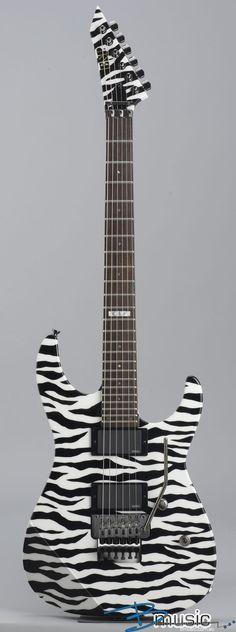 ESP - MII Neck-Thru Zebra. Spandex not included.