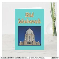 Ramadan Eid Mubarak Muslim Islamic Card Muslim Holidays, Mubarak Ramadan, Plant Design, Custom Greeting Cards, Zazzle Invitations, Islamic Art, Artwork Design, Thoughtful Gifts, Smudging