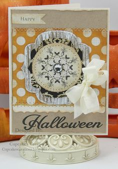 Happy Halloween - Scrapbook.com - #scrapbooking #cardmaking #halloween #spellbinders #pinkpaislee