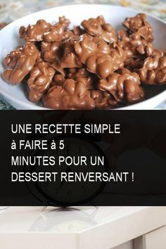 A simple recipe to make at 5 minutes for a stunning dessert! - Faim et gourmandise - Desserts Köstliche Desserts, Delicious Desserts, Yummy Food, Brownie Desserts, Chocolate Cake Recipe Easy, Cake Recipes From Scratch, Homemade Cake Recipes, Homemade Taco Seasoning, Breakfast Dessert