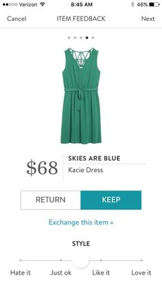 Skies are Blue Kacie dress - perfect emerald green dress with detail back. Great for St. Patrick's Day. Or just Spring & Summer 2017. #stitchfix #sponsored