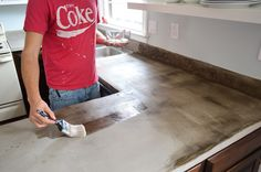 Young House Love | Sealing The Deal | http://www.younghouselove.com sealing concrete counter