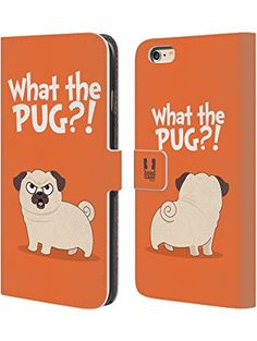 Head Case Designs What Orange Piper The Pug Leather Book Wallet Case Cover for Apple iPhone 6 / 6s ❤ ...