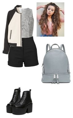 """Untitled #495"" by broken-scene-queen on Polyvore featuring Miss Selfridge, LE3NO, MANGO and MICHAEL Michael Kors"