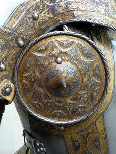 Detail of besagew Germany 1550 attributed to Sorg the  Younger