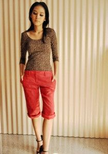 Red vintage capri pants from AndWhatElseIsThere on #Etsy