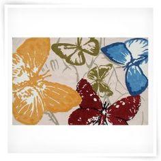 Rug Market Resort 25328 Monarch Butterflies Outdoor Rug - Red / Blue / Green