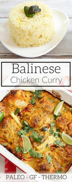 EASY Fragrant Balinese Chicken Curry was developed after a Balinese cooking class, I've adapted it into a quick curry for the Thermomix or food processor. via paleo dinner curry Curry Recipes, Paleo Recipes, Indian Food Recipes, Asian Recipes, Cooking Recipes, Ethnic Recipes, Thermomix Recipes Healthy, Indonesian Recipes, Healthy Food