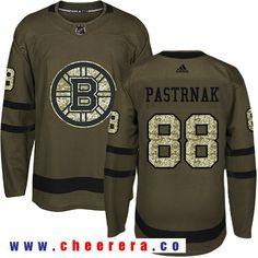 Adidas Bruins  88 David Pastrnak Green Salute to Service Stitched NHL  Jersey Boston Bruins f887ec90d