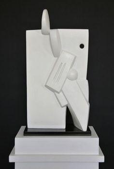 Galerie Piece Unique - Tete au Carre, 2003-2011  Bronze monochrome blanc  Edition of 6  Cm 54 x 28 x 14  (VARI 103)