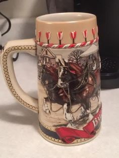 DISCOUNTED!! *BLEMISHED* 2019 Budweiser Holiday Stein