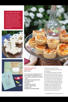 Southern Lady Magazine- Cheese & Bacon Mini Quiche!