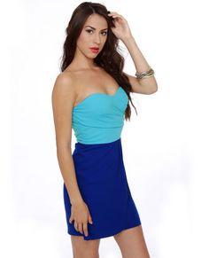 Delica-Sea of Love Strapless Blue Dress