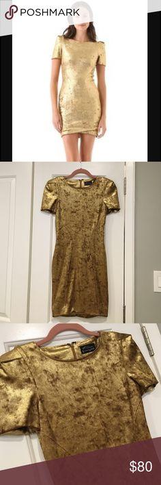 Torn by Ronny Kobo Gold Velvet dress size XS Torn by Ronny Kobo Gold Velvet dress size XS Torn by Ronny Kobo Dresses Mini