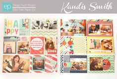 Happy Double Spread Photo Freedom Layout using Happy Go Lucky Collection. #echoparkpaper