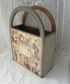 How to make a decoupage box – Easy Tutorial – DIY Decoupage Wood, Decoupage Furniture, Painted Furniture, Diy Painting, Painting On Wood, Decor Crafts, Diy And Crafts, Altered Boxes, Country Crafts
