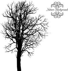 Vecteur de fond avec des arbres, dessiné à la main illustration vectorielle