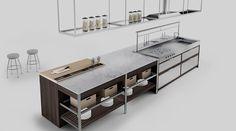 Cozinha K-Lab, da Ernestomeda, apresentada durante a EuroCucina 2016