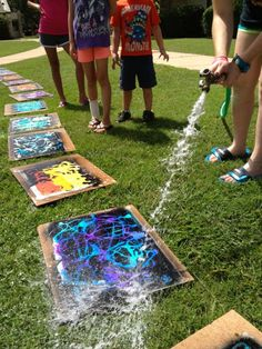 5 Super FUN End of the Year Art Projects - Gel Soap Resist Painting, Explosive painting, Ping Pong Painting, Squirt Gun Painting, & Marshmallow Sculptures!