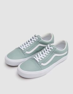 Old Skool VLT LX from Vault by Vans in Cielo. Italian leather upper. Lace 6dac5863b