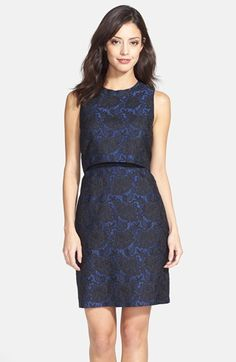 FELICITY & COCO Floral Jacquard Popover Dress (Regular & Petite) (Nordstrom Exclusive) available at #Nordstrom