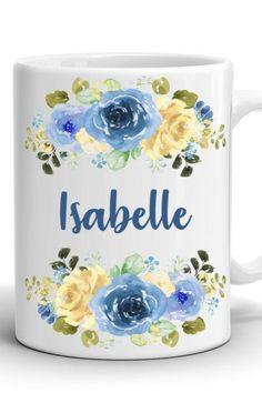 Custom Name Mug/Personalized Mug/Floral Coffee Mug/Birthday gift/Gift for a girl/Gift for her/Stylish coffee mug Mug Crafts, Name Mugs, Girl Gifts, Different Colors, Gifts For Her, Birthday Gifts, Coffee Mugs, Print Design, Names